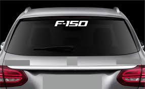For Rear Window Sticker Fits Ford F 150 Decal Emblem Car Logo Rw16 Car Stickers Aliexpress