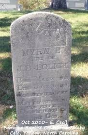 """Elmyra Elizabeth """"Myra"""" Howell Bolick (1838-1915) - Find A Grave Memorial"""
