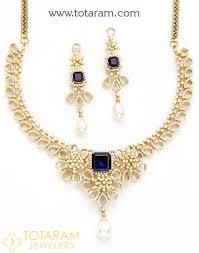 18k gold diamond necklace drop