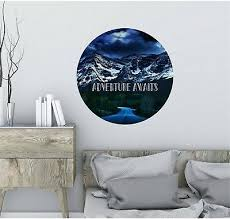 Adventure Awaits Wall Decal Quote Mountains Removable Vinyl Wall Sticker Decor 19 99 Picclick