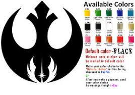 Rebel Alliance Jedi Order Vinyl Decal Sticker Car Window Starwars Star Wars Ebay