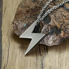 pendant necklace stainless steel bolt