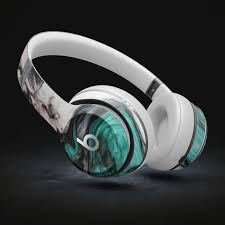Modern Marble Aqua Mix V10 Decal Skin Kit For Beats By Dre Etsy