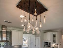 edison bulb chandelier exposed bulbs