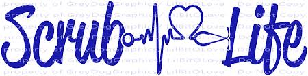 Scrub Life Vinyl Decal Heartbeat And By Lilbitolove On Zibbet