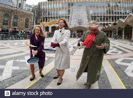 Guildhall, London, UK 25 Feb 2020 - Elisabeth Mainelli Shrieval Consort  (L), The Lady Mayoress Hilary Russell (