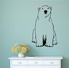 Amazon Com Polar Bear Vinyl Wall Words Decal Sticker Graphic Handmade