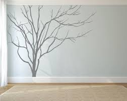 Realistic Winter Tree Wall Decal Headboard Wall Decal Home Etsy