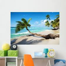 Caribbean Tropical Beach Wall Decal Wallmonkeys Com