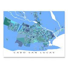 Cabo San Lucas Map Print, Mexico — Maps As Art