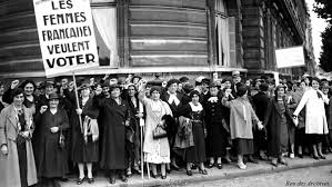 Image result for Women are allowed to vote in France for the first time