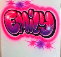 airbrush t shirt with graffiti name