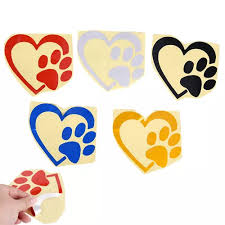 Vova Love The Dog Paw Print Window Decoration Decal Creative Motorcycle Car Stickers