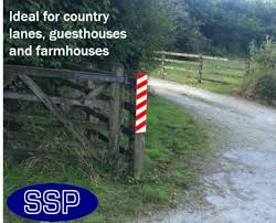 Gate Post And Fence Prismatic Reflective Marker Sign 600x200mm Ssp Direct