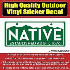 Colorado Native License Plate Vinyl Car Window Laptop Bumper Sticker Decal Ebay