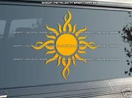 Godsmack Tribal Sun Vinyl Decal Orange Large 13 30519209