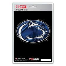Penn State Nittany Lions 3d Die Cut Decal New 4 X 3 Window Or Car F Hub City Sports