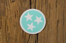 Tennessee Tristar Decals Volunteer Traditions Tn State Flag Sticker