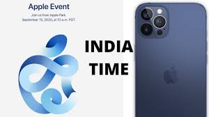 IPHONE 12 EVENT ANNOUNCED! SEPTEMBER EVENT: INDIA TIME APPLE EVENT 2020 -  YouTube