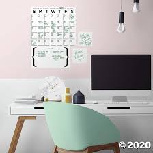 Dry Erase Calendar Peel Stick Giant Wall Decal Oriental Trading