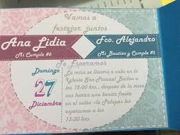 Por Dentro Invitaciones Bautizo Invitaciones De Cumpleanos