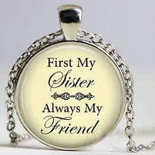 pendant necklace first my sister
