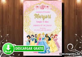 Invitacion De Princesas Disney Para Imprimir Mega Idea