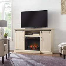 media center ivory fireplace tv