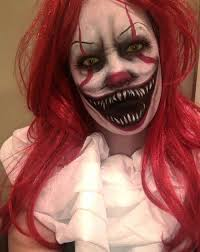 scary female clown makeup ideas