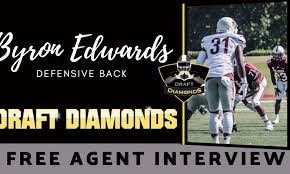 Meet playmaking Free Agent defensive back Byron Edwards