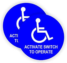 Occupational Health Safety Products Premium Front Adhesive Vinyl For Applying Inside The Window Or Glass Door Handicap Signs Stickers Decal Symbol Ada Compliant Disabled Wheelchair Sign 4 Pack 6x6 Inch Disability