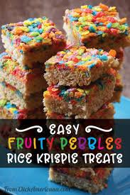 easy fruity pebbles rice krispie treats