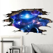 Wall Stickers Cosmic Galaxy Wall Decals For Kids Room Baby Bedroom Ceiling Decor For Sale Online