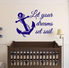 Let Your Dreams Set Sail Vinyl Wall Decal Dreams Sail Etsy