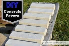 diy concrete pavers concrete garden