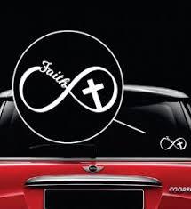 Faith Christian Infinity Cross Decal Sticker Midwest Sticker Shop