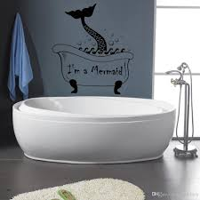 Cute Mermaid Tail Wall Decal Vinyl Removable Vintage Bathroom Wall Stickers Waterproof Washroom Art Murals Wallpaper Wall Stickers For Office Wall Stickers For Sale From Joystickers 11 67 Dhgate Com