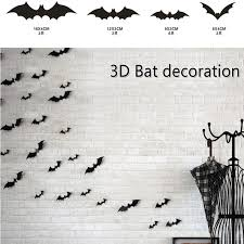 12pcs Creative 3d Bat Wall Stickers Halloween Horrible Wall Decals Decorative Wall Decoration For Living Room Bedroom Wall Stickers Aliexpress