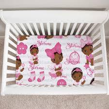 crib bedding set for a black baby girl