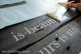 Wood Pallet Sign Tutorial The Thinking Closet