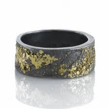 todd reed mens organic silver gold band