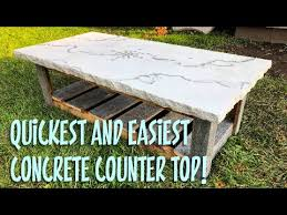 a concrete counter top in 1 hour