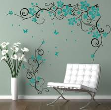 Amazon Com Smydp Butterfly Vine Flower Vinyl Wall Art Stickers Wall Decals For Kids Room Living Room Bedroom Decoration Mural 65x110cm Baby