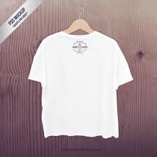 white t shirt mockup psd template