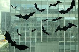 Anditoy 60 Pcs Halloween 3d Bats Wall Decal Window Clings For Halloween Decorations Outdoor Indoor Halloween Party Supplies Decor Wall Decor