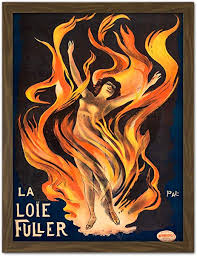 Singer Dancer Ada Thompson Flames Fire Advert Large Framed Art ...