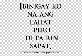tagalog broken heart envy quotation breakup tayo png clipart