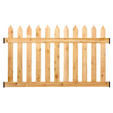 Rustic Cedar Spaced Picket Routed Fence Panel Kit 3 5 Ft H X 6 Ft W Walmart Com Walmart Com