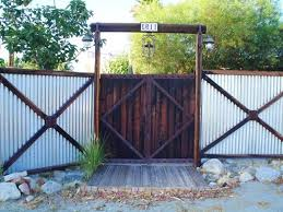 Privacy Fencing Ideas For 8 Ft Fence Contemporary Fence Designs Corrugated Metal Fence Panels Corrugated Metal Fence Fence Design Backyard Fences