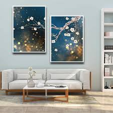 Peach Blossoms Branch Landscape Painting Wall Art Printed Wall Pictures Baby Kids Room Decor Wall Decor Painting Calligraphy Aliexpress